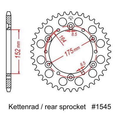 Kettenrad, für YZF/WRF 400 98