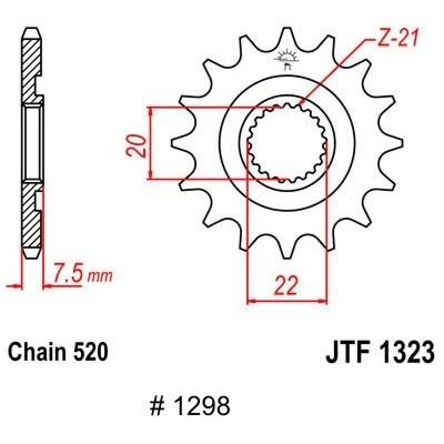 Motorritzel CRF 250 04-17,