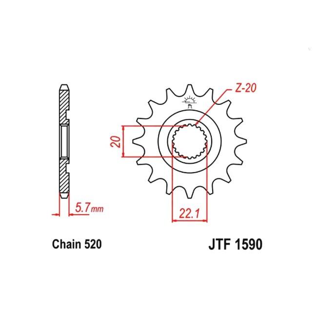 Motorritzel, für YZF/WRF 250 01-