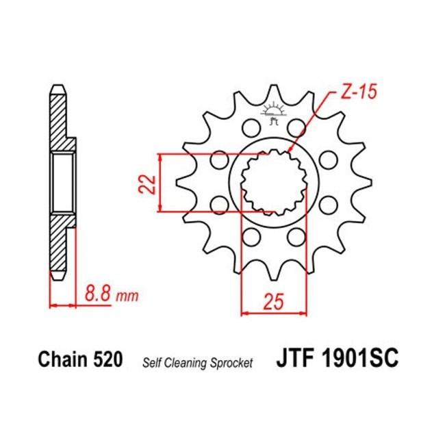 Motorritzel HQV TE/FE/TE/TC 14-,