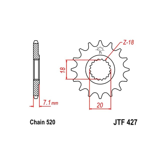 Motorritzel RM-Z 250 07-12,