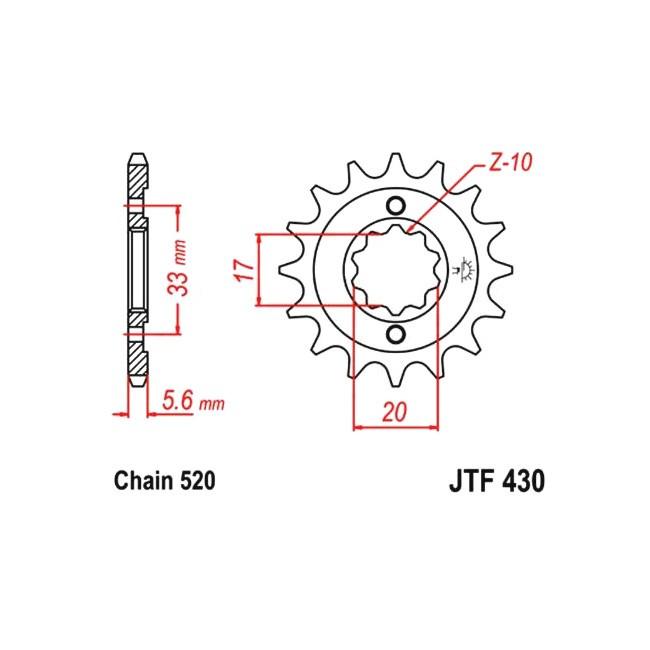 Motorritzel RM-Z 250 04-06,
