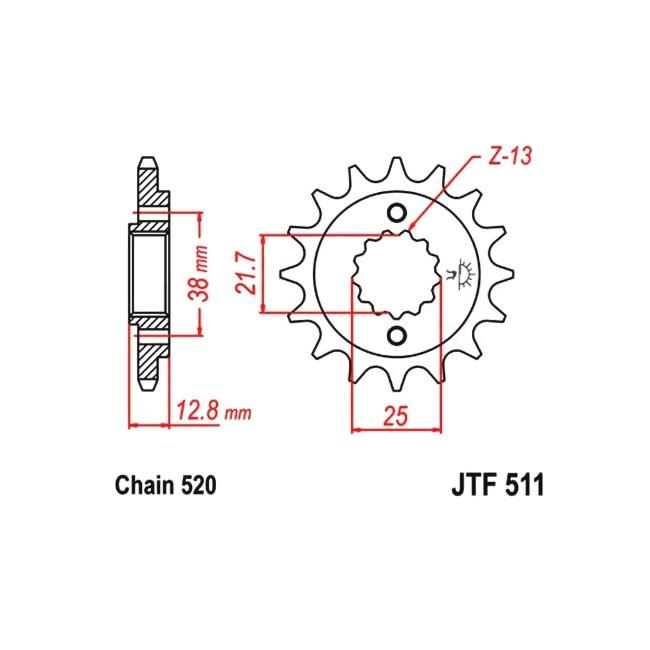 Motorritzel KLR 650 90-02,