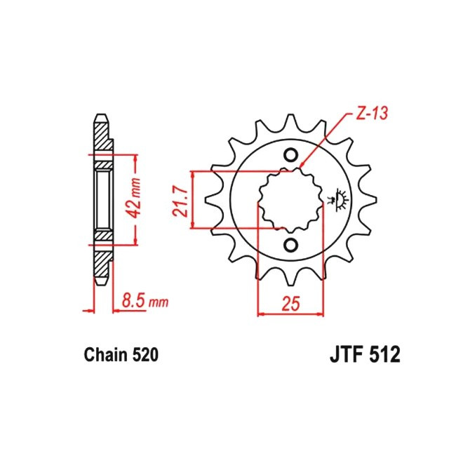 Motorritzel KLR 650 / KL 650 87-90,