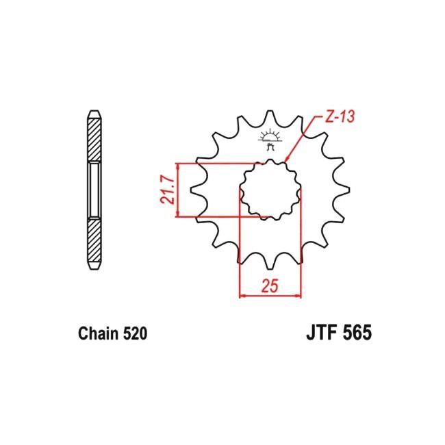 Motorritzel YZF/WRF 400-426-450 98-