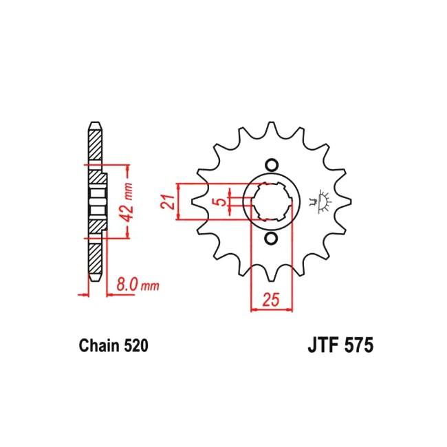 Motorritzel JTF-575, TT600
