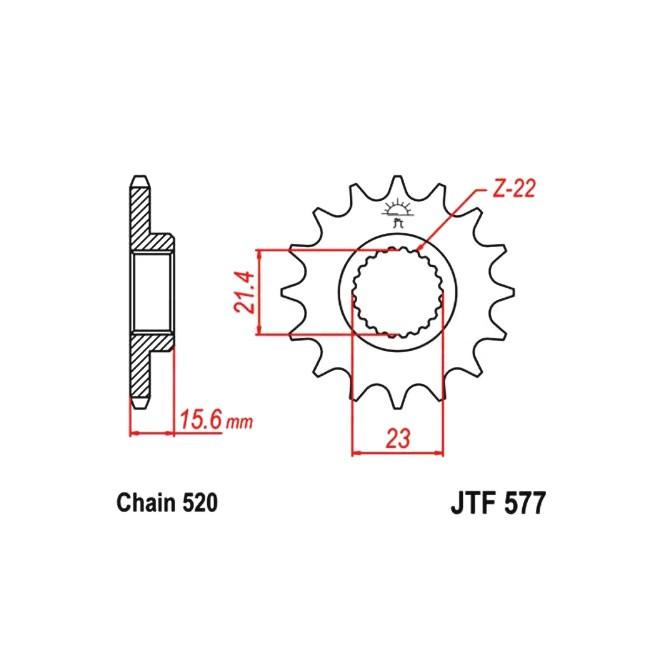 Motorritzel JTF-577, TT600