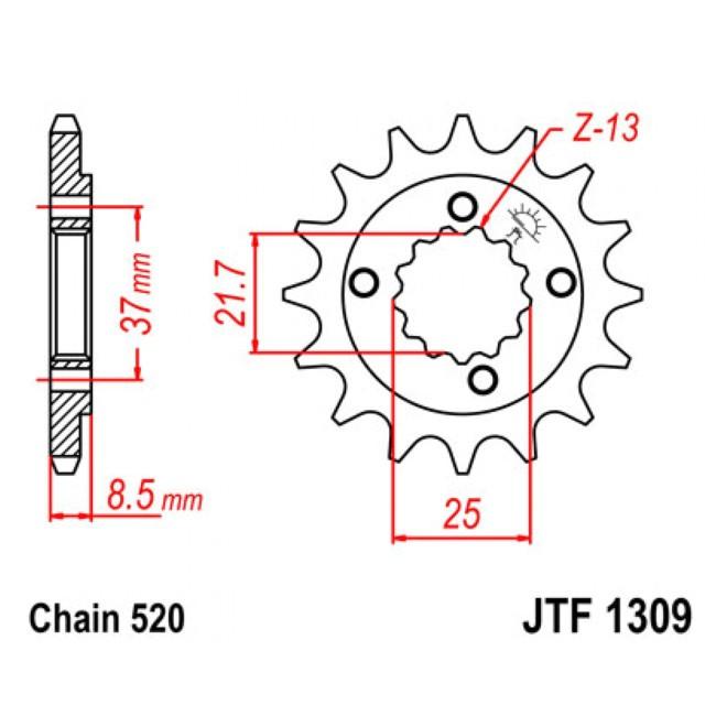 Motorritzel XR 600R 91-,