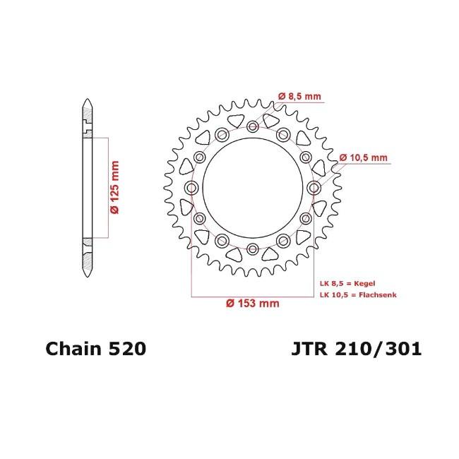 Kettenrad CRF 250 04-,