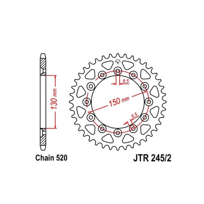 Kettenrad, für YZ 250 99-