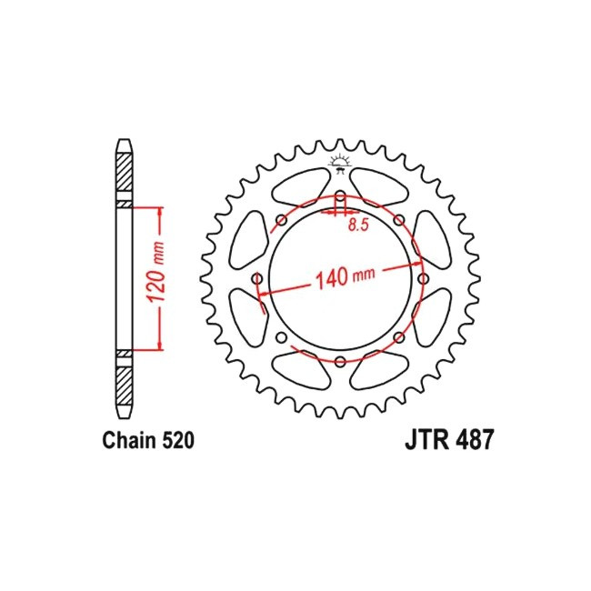rear sprocket KLE 500 91-,