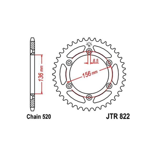 Kettenrad HQV 250-310 TE/TC 11-13,