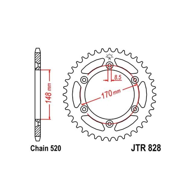 Kettenrad DR 800 88-93,