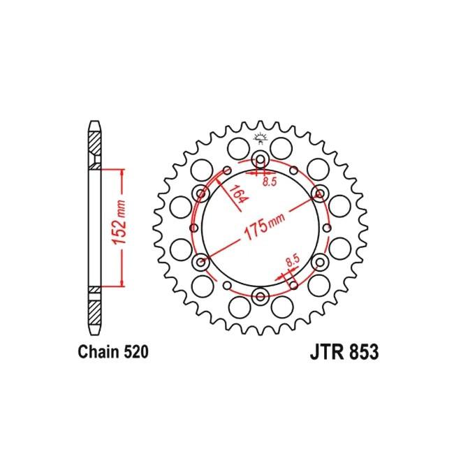 Kettenrad JTR-853, TT600