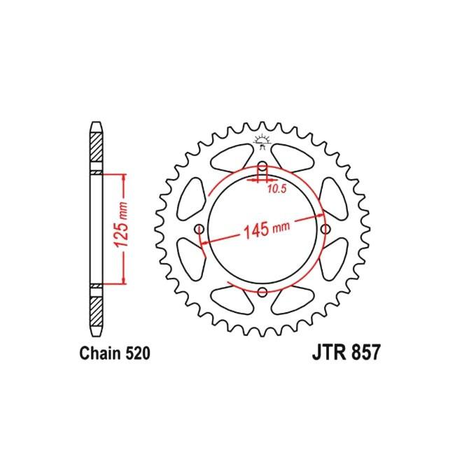 Kettenrad JTR-857, TT600