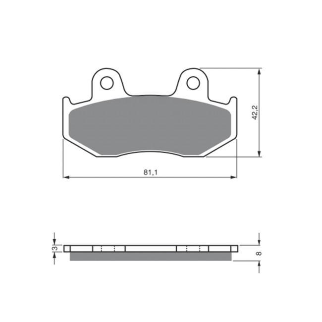 Vorderrad-Bremsbeläge, XR600