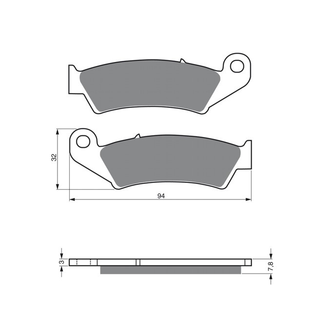 Vorderrad-Bremsbeläge, XR650R
