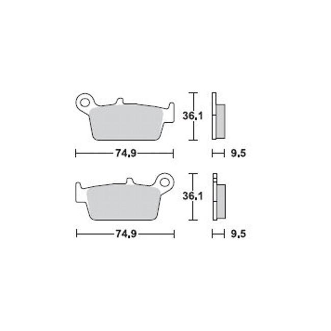 Hinterrad-Bremsbeläge, XR650R