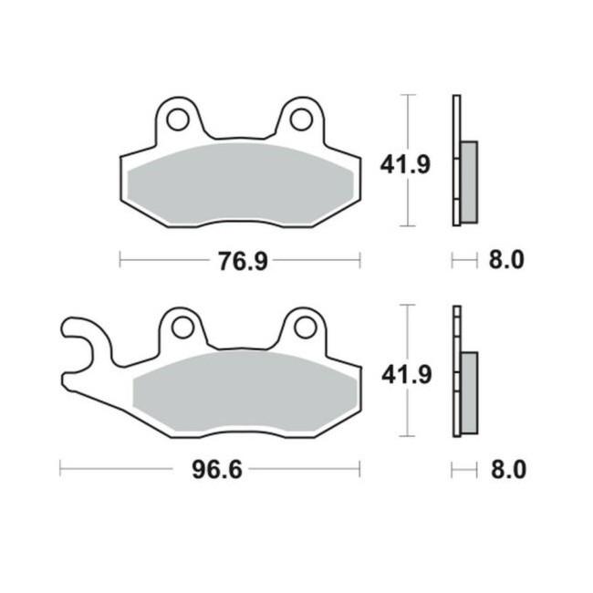 Vorderrad-Bremsbeläge, DR 350