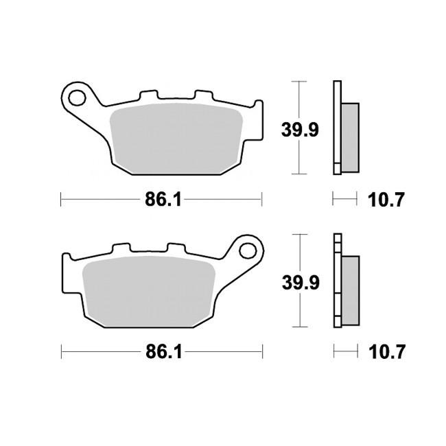 Hinterrad Bremsbeläge, NX650