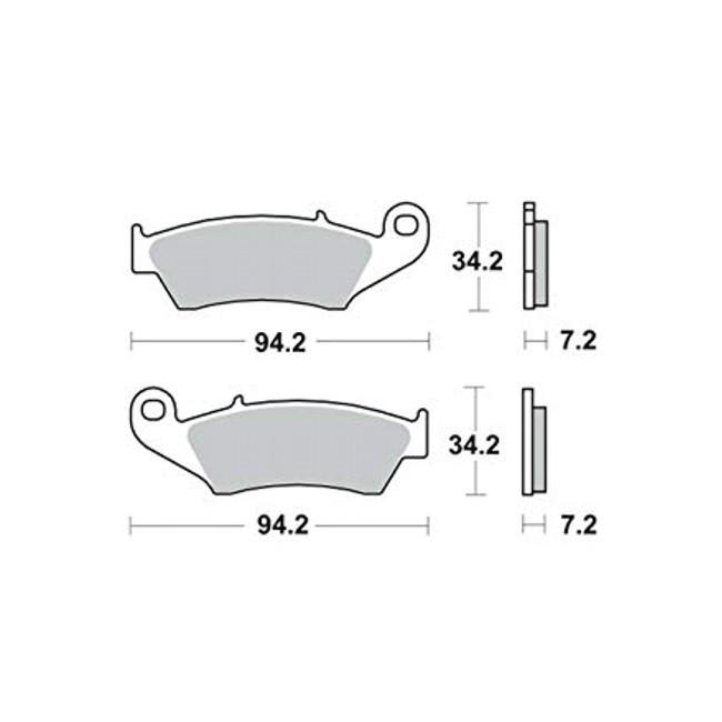 Vorderrad-Bremsbeläge, DRZ400