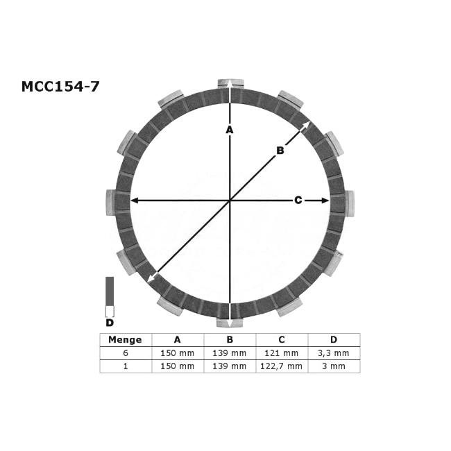 Kupplungs-Reibscheiben, XR650R