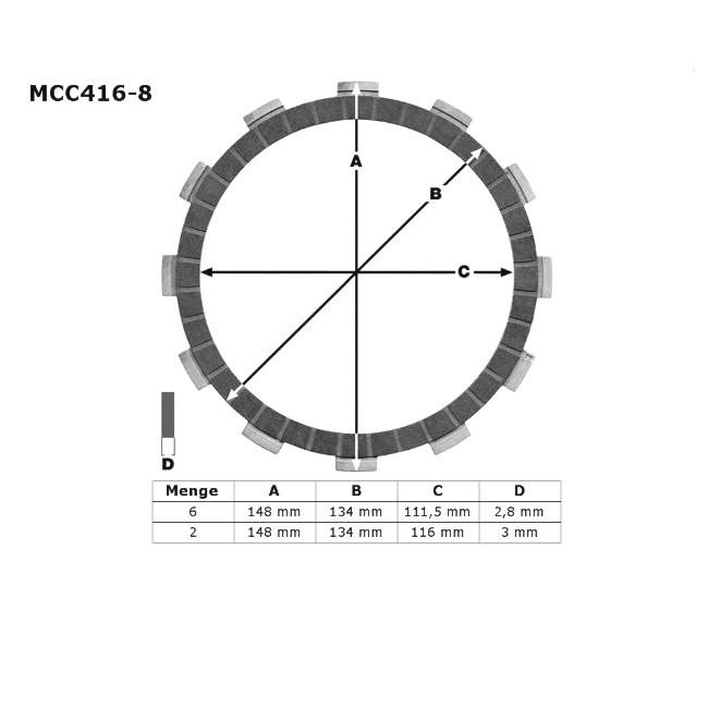 Kupplungs-Reibscheiben, TT/XT600 85-