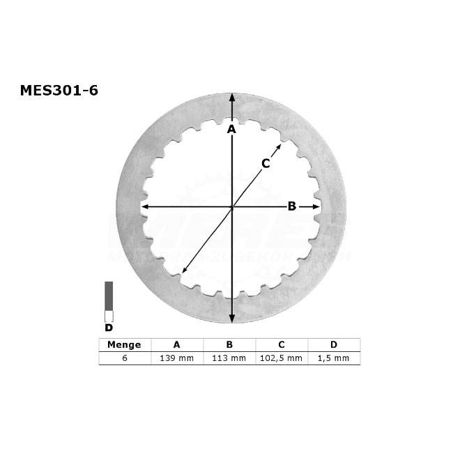 Kupplungs-Stahlscheiben,  DR 650 90-95