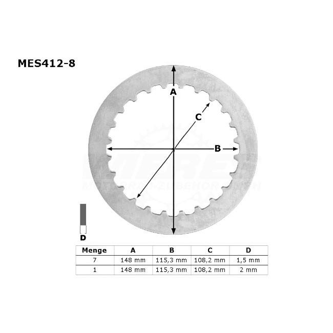 Kupplungs-Stahlscheiben,  DR 650SE 96-