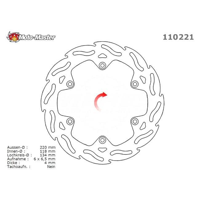 Standard Hinterrad Bremsscheibe, DRZ400