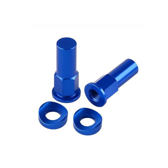 Muttern für Reifenhalter, blau eloxiert